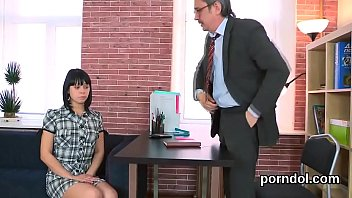 Sweet college girl is teased and penetrated by her older lecturer