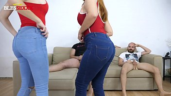 Young couple starts in the swinger world with another couple
