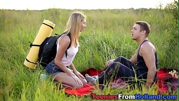 Polish teen fucked outdoor