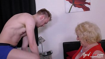 Well aged lady got fucked hard by youngster stud