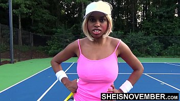 Watch Gorgeous Blonde Ebony Rough Neck Choke And Pounded Missionary After Gambling On Tennis Match, Little Msnovember Large Boobs Pulled_From Top On HD Sheisnovember preview