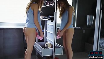 Amazing butt teen tries on well fitting panties