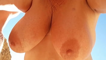 Old slut wants her pendants tits sucked