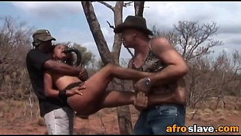 African slave loves getting spanked and fucked by her masters