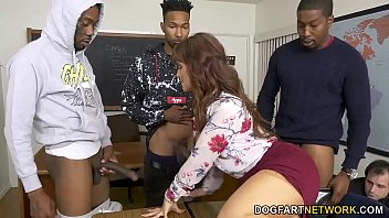 Cougar Teacher Syren DeMer Takes 3 BBCs - Cuckold Sessions
