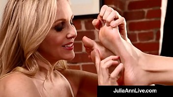Mega Milf Julia & Kimberly caress, lick, suck & adore each other's feet, soles, & toes in this hot foot fetish clip! Sloppy Seconds? Me! Full Video & Julia Live @JuliaAnnLive.com
