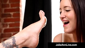 Watch Mega Milf Julia & Kimberly caress, lick, suck & adore each other's feet, soles, & toes in this hot foot fetish clip! Sloppy Seconds? Me! Full Video & Julia Live @JuliaAnnLive.com preview