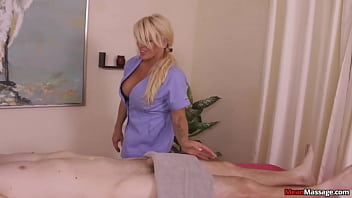 massage session turns into cock worship