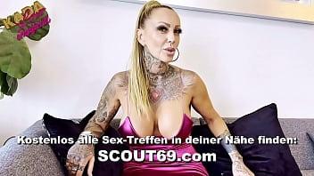 Arschfick Kehlenfick Amateur Dreier mit deutschen Hausfrau Nadja Summer und Nachbarin