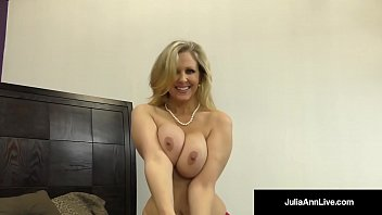 Busty All American Milf, Julia Ann, finds a nice Cock waiting for her
