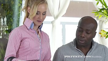 Blonde Beauty Helena Valentine opens her tiny butthole & gets a big black cock inside which pounds her to dual orgasms!