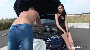 Repairing the Car turns into Bisex Action