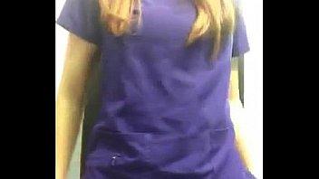 Nurse in Toilette at Work so Bitch
