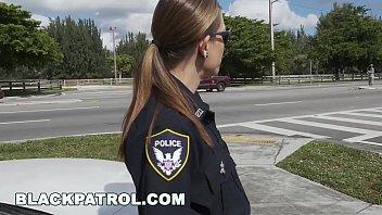 Hot cops fuck black pole
