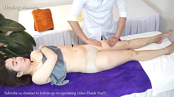 Massage with Oil in bedroom in the Morning