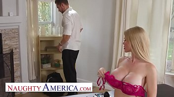 Naughty America - Casca Akashova's husband absolutely loves it when his sexy, blonde bombshell of a wife hooks up with other men