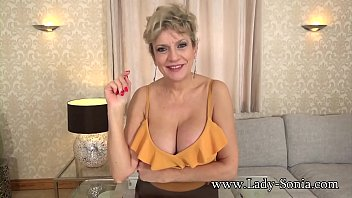 Sexy granny with huge tits wants to watch you fuck a fleshlight
