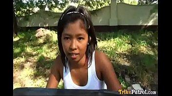 dark filipina asian hooker picked up and fucked