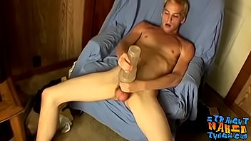 Straight thug uses fleshlight on cock