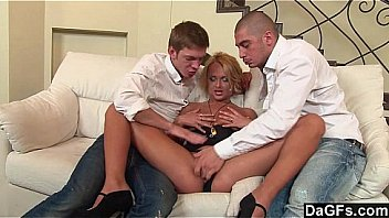 Slutty Russian Teen Thrilled By Her First Double Penetration