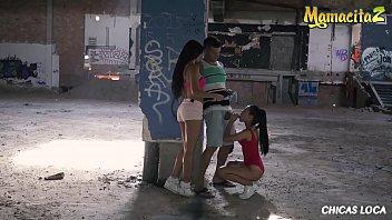 MAMACITAZ - Spanish Brunette Apolonia Lapiedra And Her BFF MILF Gloria Shares Cock In Hot 3way Outdoor