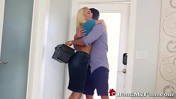 Blonde Bombshell Tiffany Watson Fucks Her Hot Step-Cousin Next To Uncle