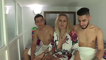 Nuria deflowers two inexperienced dudes at the same time!