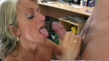 Ugly old blonde hag sucking cock and anal fucking