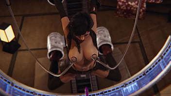 Tifa Lockhart from FF 7 squirts and moans in a sex machine and she likes it!