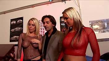 Euro Ass Fucking Orgy! Three Whores, Two Dicks, 3-Hole Group Sex in Slutty Fishnet Outfits