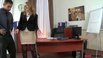 Anal creampie at the office with blonde Milf slut Kandall N makes you cum instantly