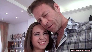 Rocco Siffredi meets up petite russian Jalace.He starts kissing and fingering her pussy.In return she throats Roccos big dick.After that,Rocco licks her ass first to makes it wet.Finally,Rocco fucks her tight wet ass deep and hard.