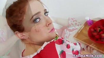 Watch Cream enema babe analfucked in bizarre trio preview