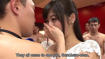 Subtitled Japanese Miki Sunohara epic sex party striptease
