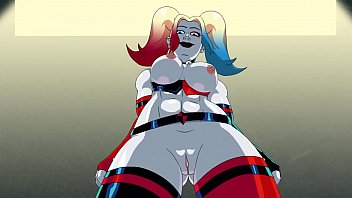 animated Harley Quinn gets crazy for dick
