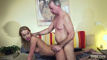 Old Man Dominated by sexy hot babe in old young femdom hardcore fucking Thumbnail