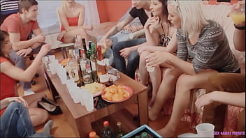 Group of horny people partying - earning up, licking, sucking yummy pussies