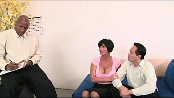 Big Dick BBC Doctor fucks the Hot Brunette MILF Wife in front of husband