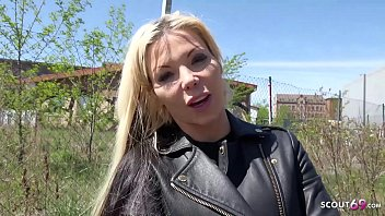 GERMAN SCOUT - Huge Tits MILF Seduce to Sex at Real Public Agent Casting for Cash Thumbnail