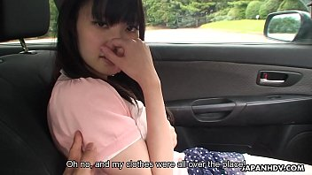 Precious and cute teen getting fondled in the car