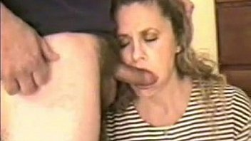 Upset Housewife Sucking On Her Husbands Cock