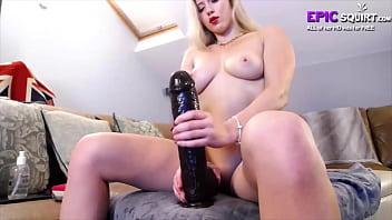 Big orgasm in bedroom
