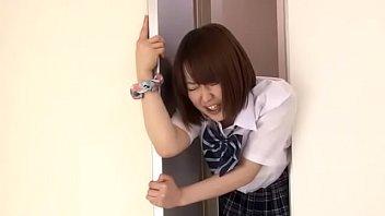 The girl was stuck in the elevator door