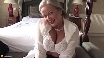 Lady striptease mature Video shows