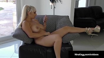 Serbian Star Nina Kayy creams all over her sex toy while sexting with a horny guy on her couch! Pussy Pounding Solo Nymphomaniac fun for us to beat off to! Full Video & Nina Live @ NinaKayy.com!