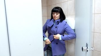Hairy pussy loves to show how she pissing in public toilets. Several plots with urine.