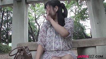 Japan teeny Emi Honada enjoys blowjob, pussy toying and raw dick inside her pussy.