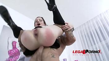 Teen sluts Rebecca & Ksenija anal & DP 4some for Legal Porn SZ1169