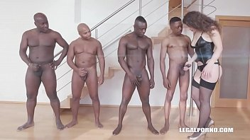 Big Booty Bitch Sofya Curly gets her Ass destroyed by 4 Black Bulls!