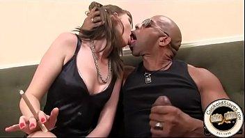 Huge black cock sucked by willing white slut